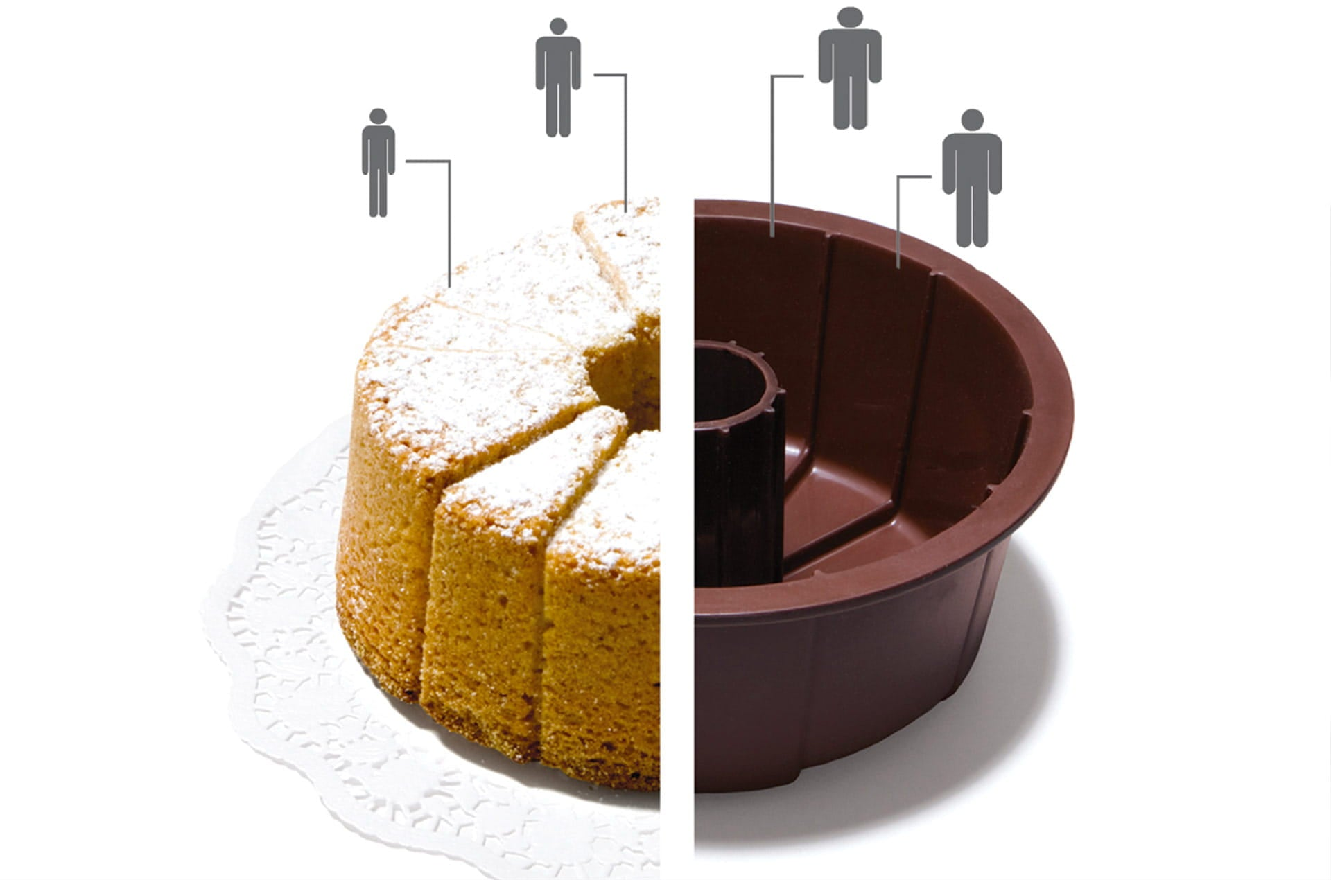 Moule à gâteau silicone Small Cake by Ding3000-en vente sur PARIDEO design durable