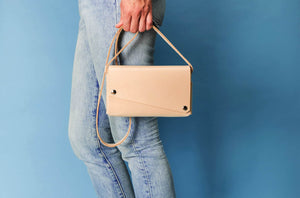 Sac a main compact cuir vegetal naturel PARIDEO design durable