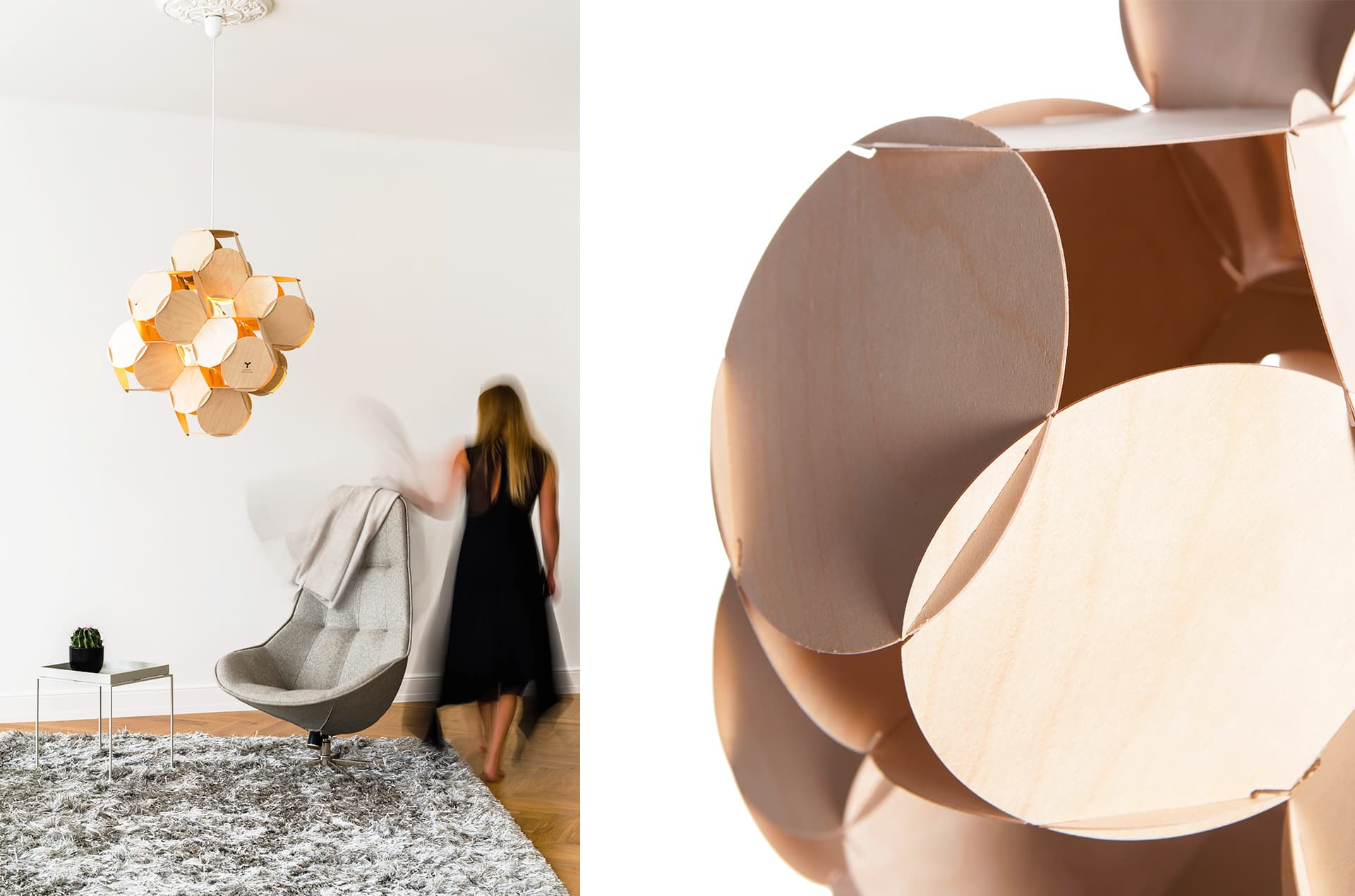 Plafonnier en bois, 8 Cells by Jaanus Orgusaar-PARIDEO design durable