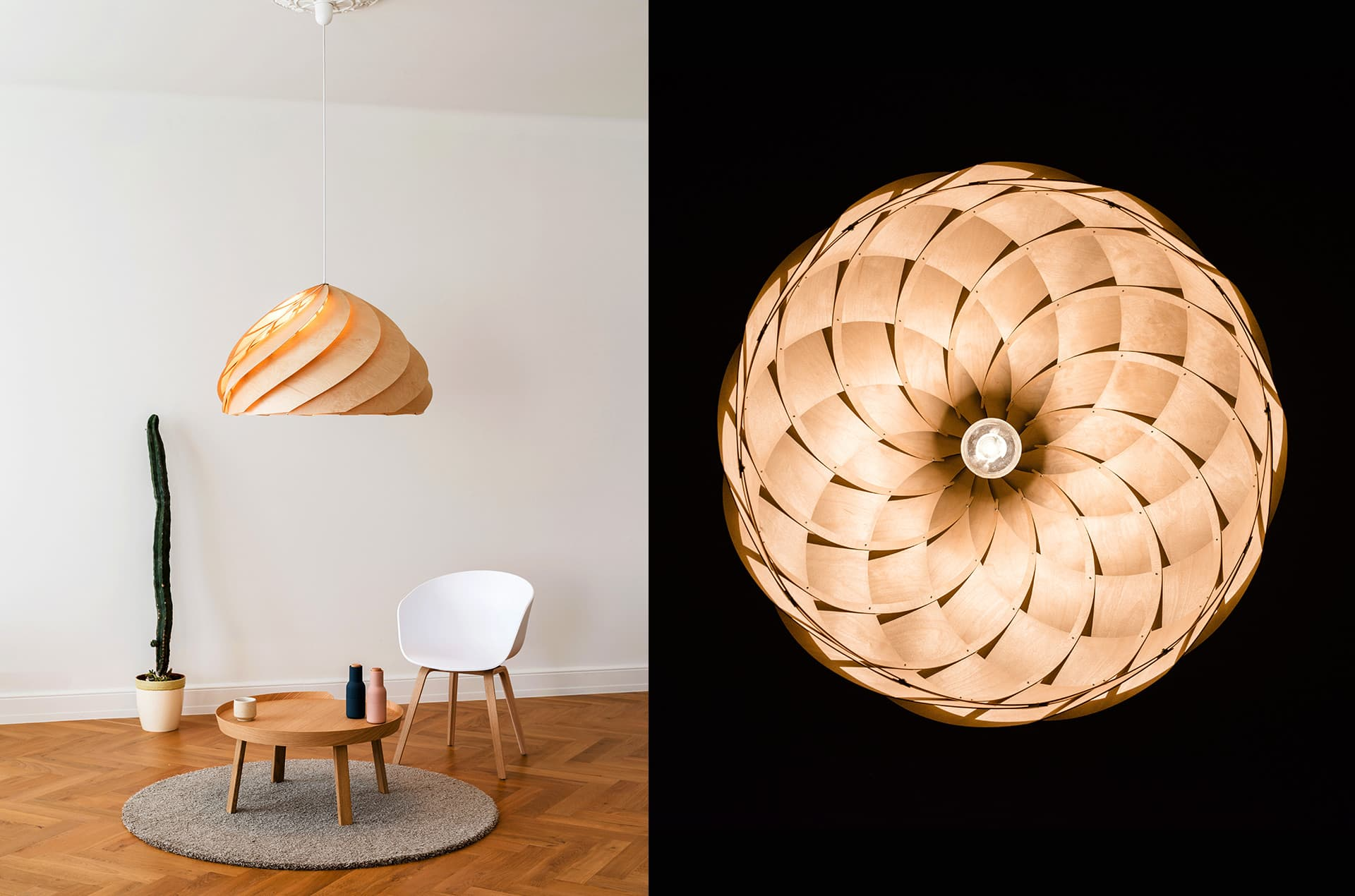 Plafonnier en bois Nautilus by Jaanus Orgusaar-PARIDEO design durable
