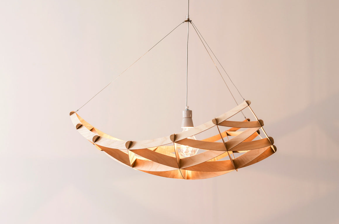 Plafonnier en bois, Rai by Jaanus Orgusaar-PARIDEO design durable