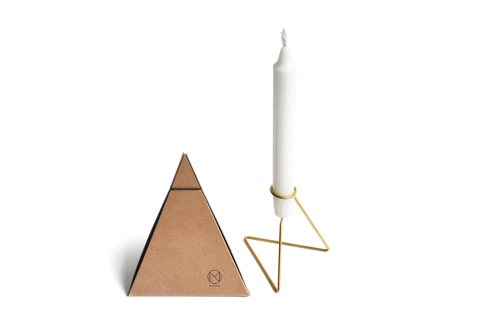 Porte-bougie unique sur pied en laiton, Candlelight by Moebe-packaging-en vente sur PARIDEO design durable