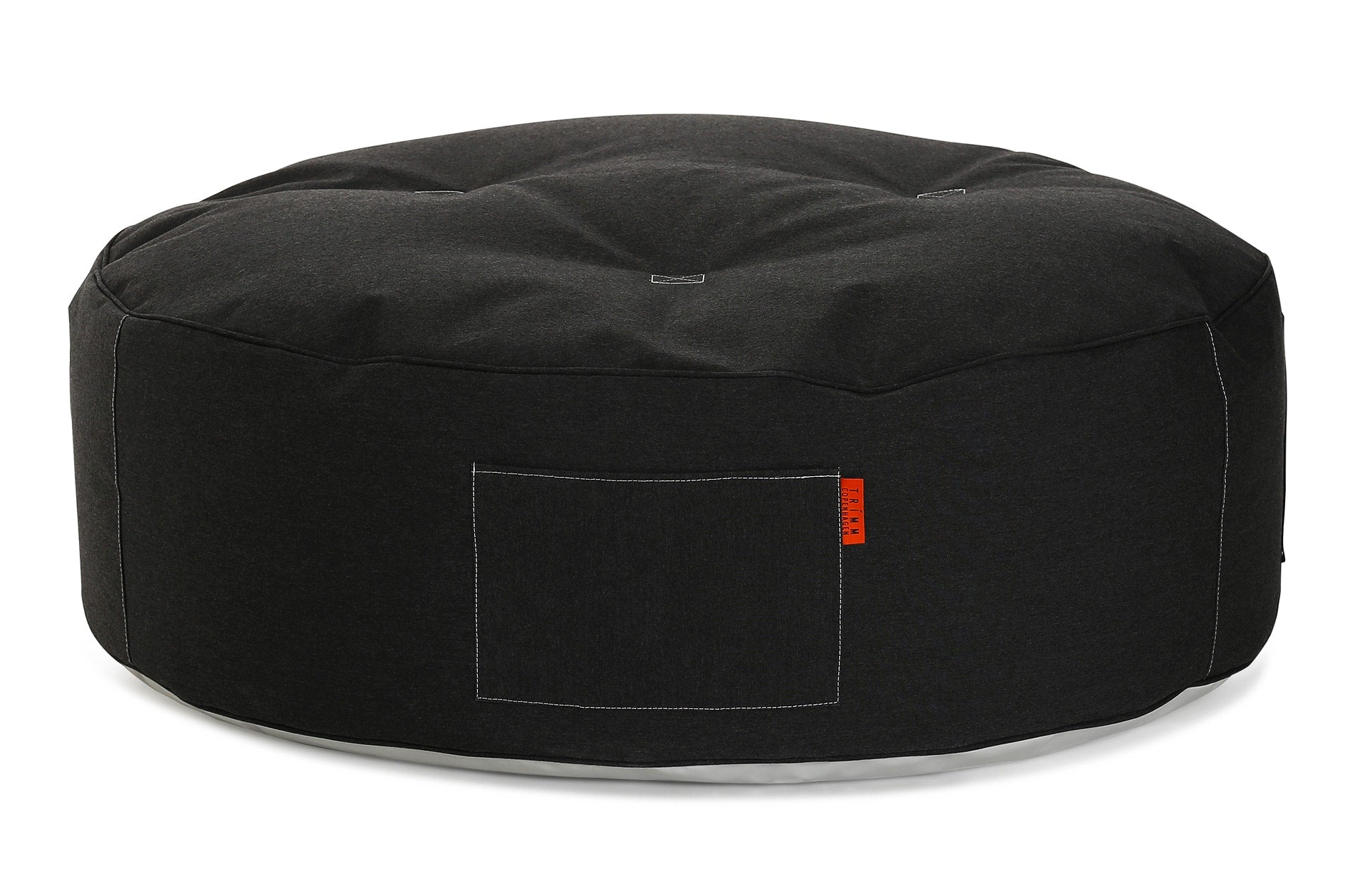 Pouf géant Full Moon by Trimm-coul noir-PARIDEO design contemporain durable