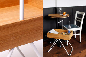Table d'appoint chêne Emil by SideBySide-2-PARIDEO design durable