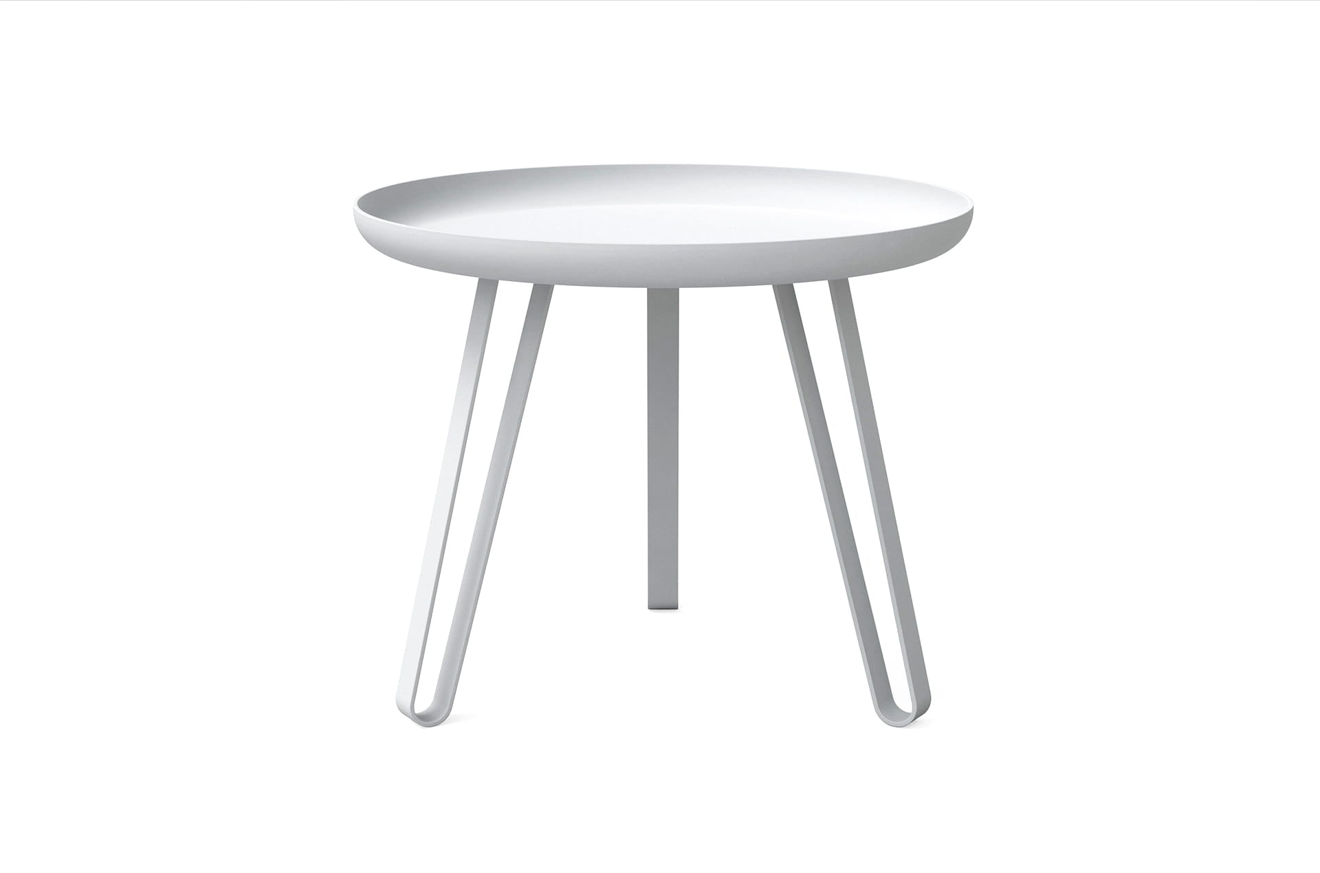 Table basse acier blanc 54cm, Carosello by Slawinski-PARIDEO design durable