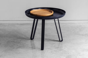 Table basse acier noir 54cm, Carosello by Slawinski-1-PARIDEO design durable