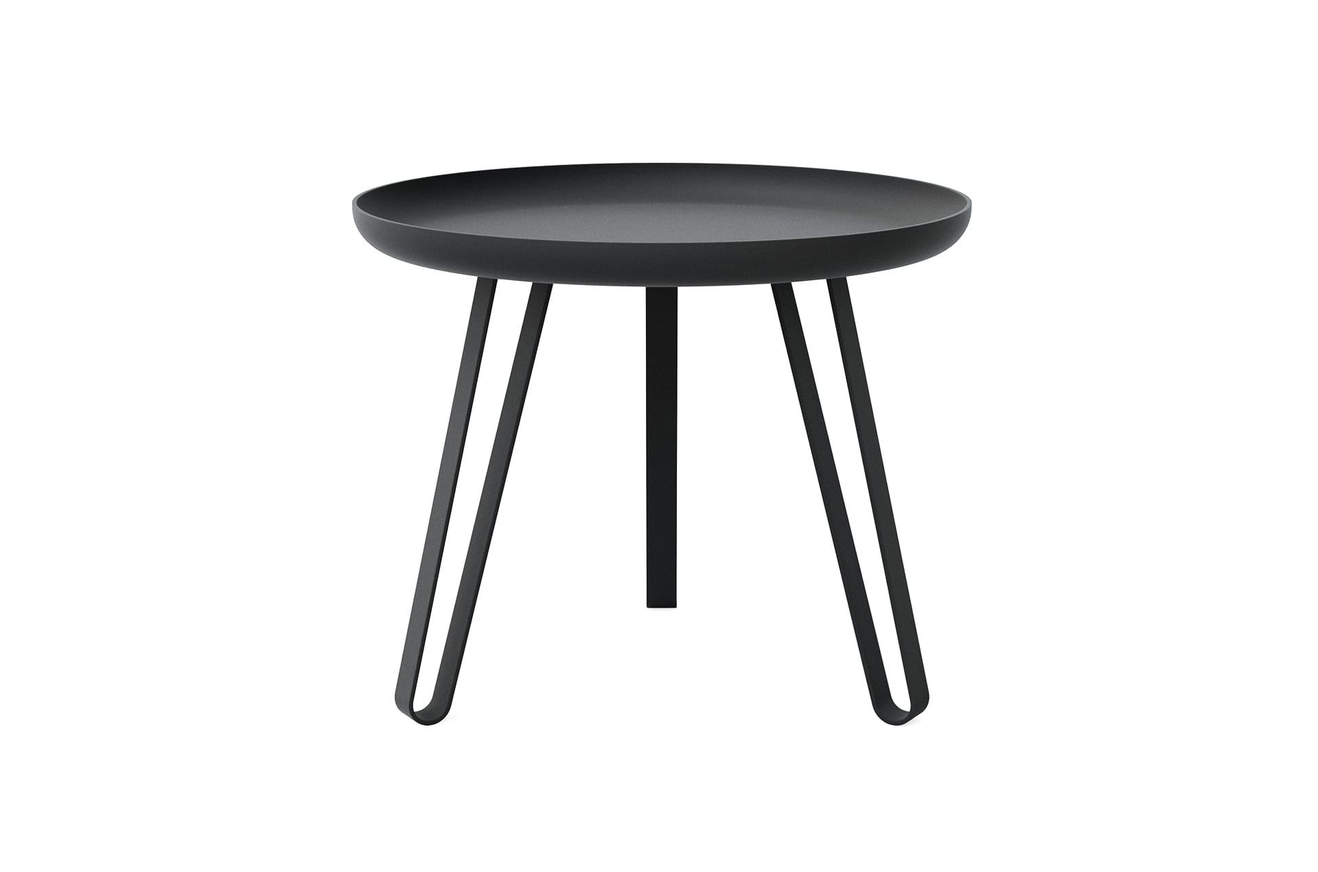 Table basse acier noir 54cm, Carosello by Slawinski-PARIDEO design durable