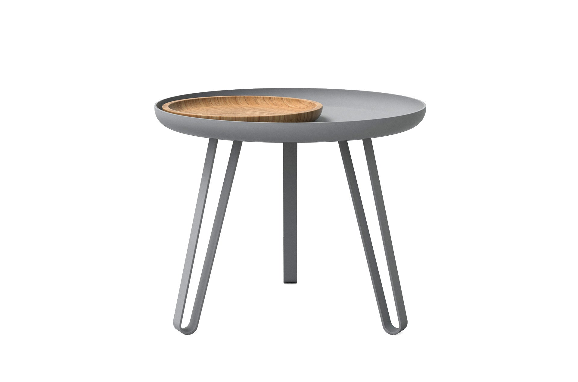 Table basse acier gris 54cm, Carosello by Slawinski-PARIDEO design durable