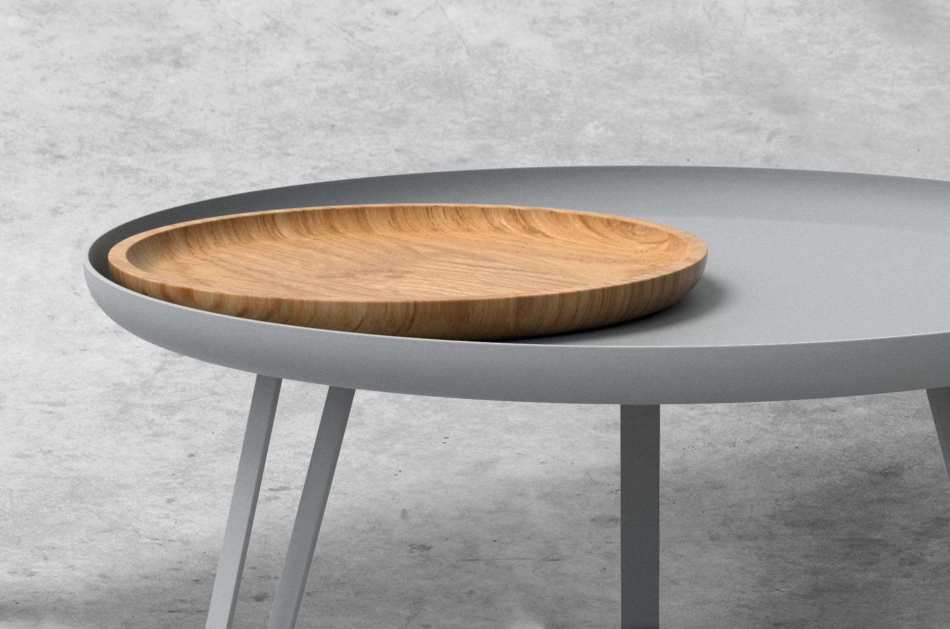 Table basse acier gris 74cm, Carosello by Slawinski-PARIDEO design durable