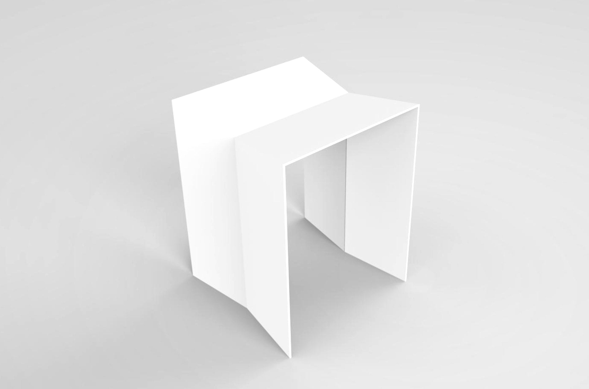 Tabouret acier blanc Bulm by Slawinski-PARIDEO design durable