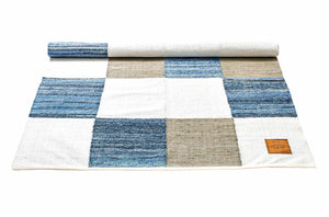 Tapis patchwork 100% jeans recyclé-160x240cm-en vente sur PARIDEO-design durable
