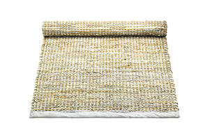 Tapis smooth grey 100% jute-cuir recyclé by Rugsolid-PARIDEO design contemporain durable