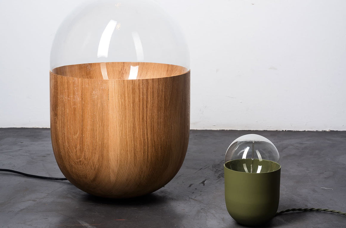 lampe de table Coco chêne XXL by Mickaël Koska-en vente sur PARIDEO design durable
