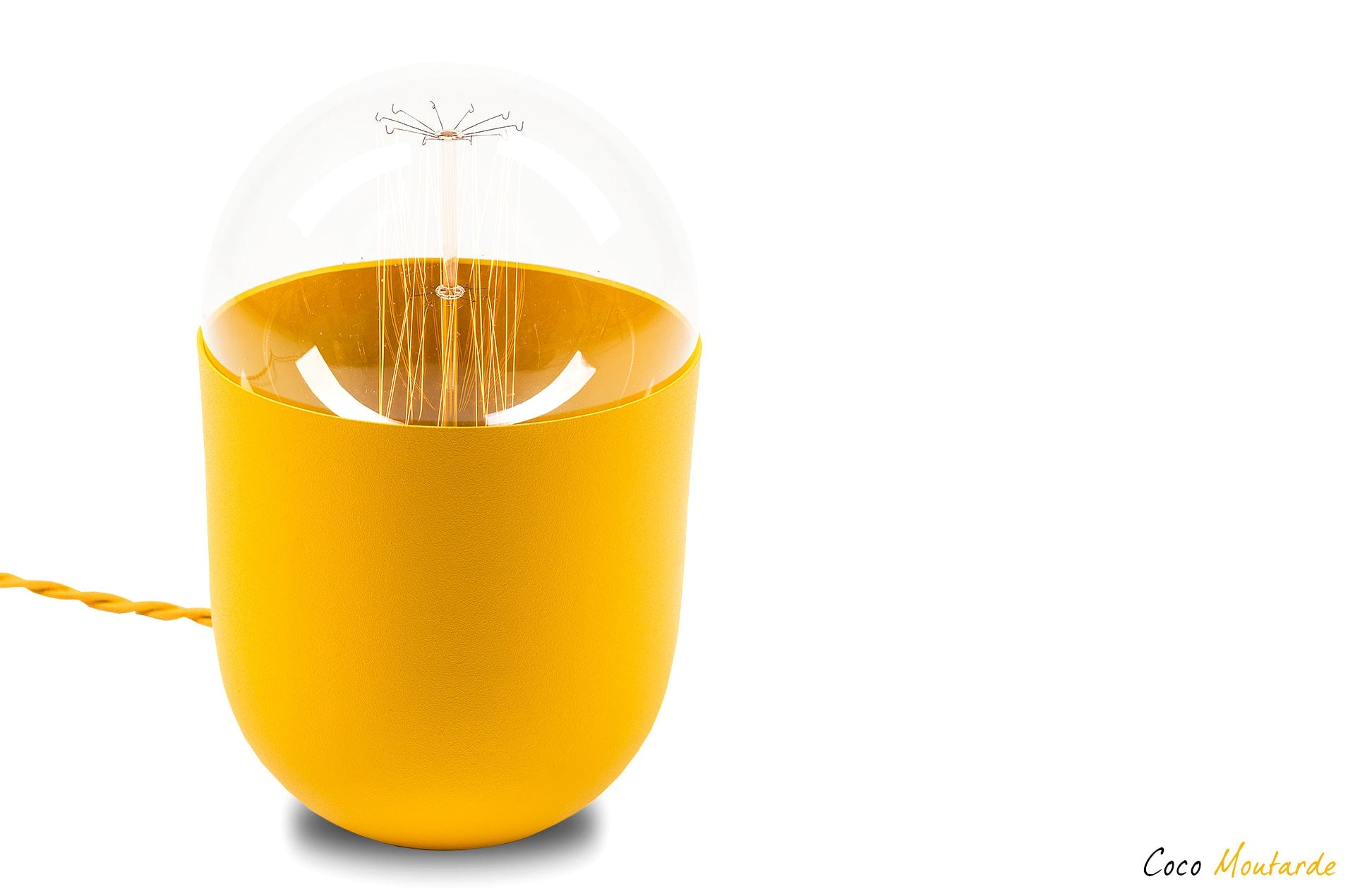 lampe de table Coco couleur jaune moutarde by Mickaël Koska-en vente sur PARIDEO design durable