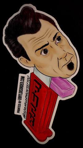 "Sticker ""Joe Capo Pez Dispenser"" by Adam Harmon"