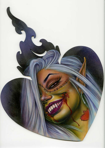 "Sticker ""Bloody Kiss"" by Joe Capobianco"