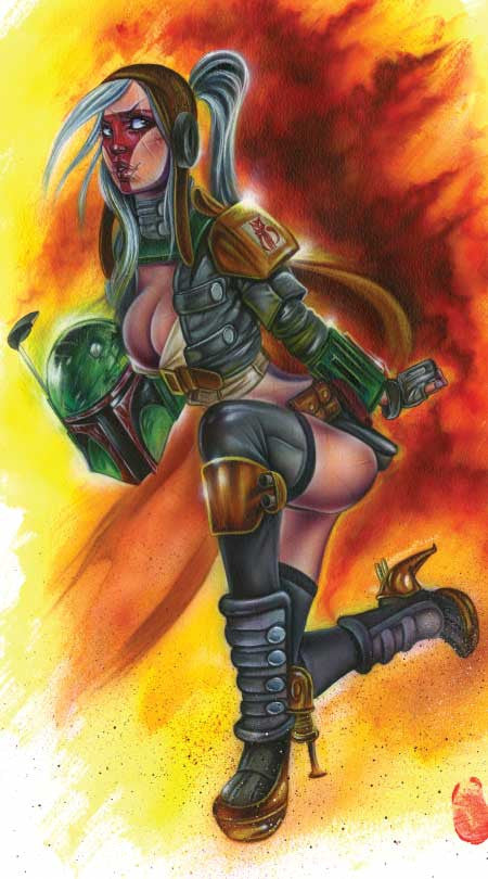 "Card Art ""Bride of Fett"" by Joe Capobianco"