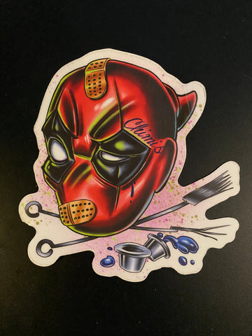 "Sticker ""Chimis Deadpool"" by Joe Capobianco"