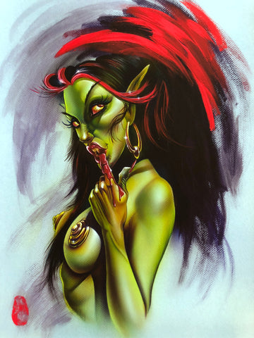 "Limited Edition Print ""Vampire Gal'"" by Joe Capobianco"