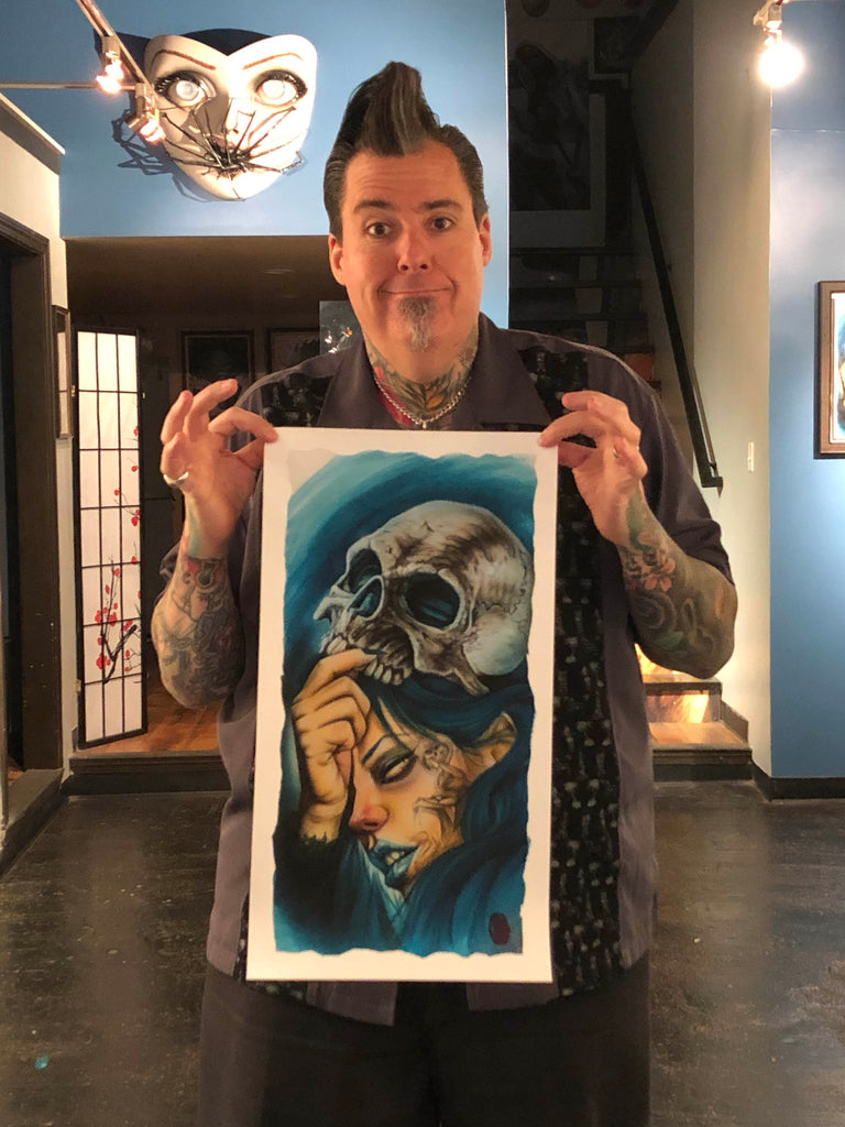 "Limited Edition Print by Joe Capobianco ""Death Eater"" 12"" x 22"""