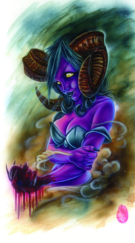 "Card Art ""Satanic Sally"" by Joe Capobianco"