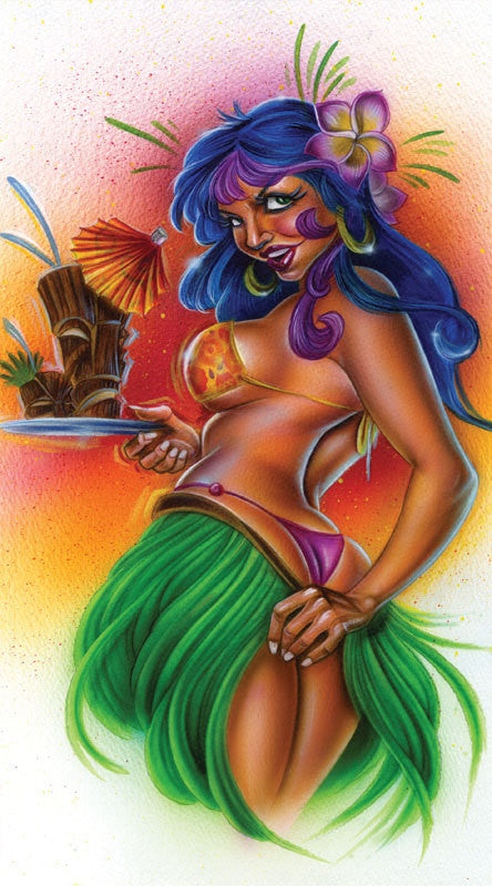 "Card Art ""Tiki Time"" by Joe Capobianco"