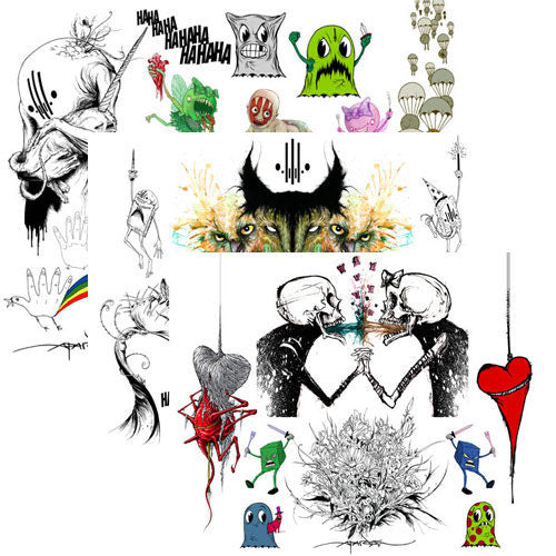 "Giclee Prints Alex Pardee - Set of 3 for ""Quick & Painful"""