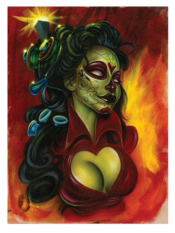 "Poster ""Electric Day of the Dead"" by Joe Capobianco"