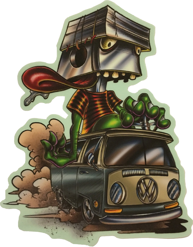 "Sticker ""Gear Head Hippie"" by Joe Capobianco"