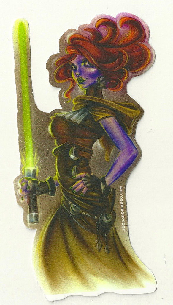 "Sticker ""Ginga Jedi"" by Joe Capobianco"