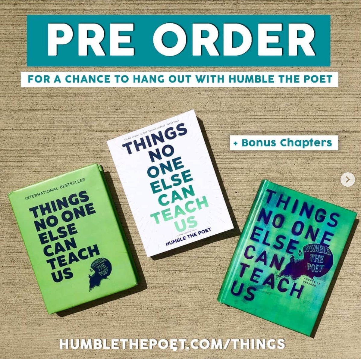 THINGS NO ONE ELSE CAN TEACH US Is Available for Pre-Order