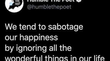 How We Sabotage Our Happiness