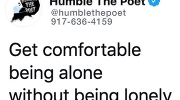 Get Comfortable Being Alone