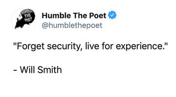 Forget Security, Live for experience