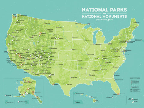 photo about Printable List of National Parks named United Suggests Countrywide Monuments Record - Most straightforward Maps At any time