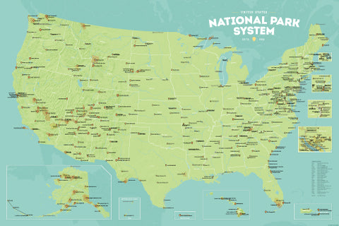 USA National Park System Units List Best Maps Ever - National parks in usa map
