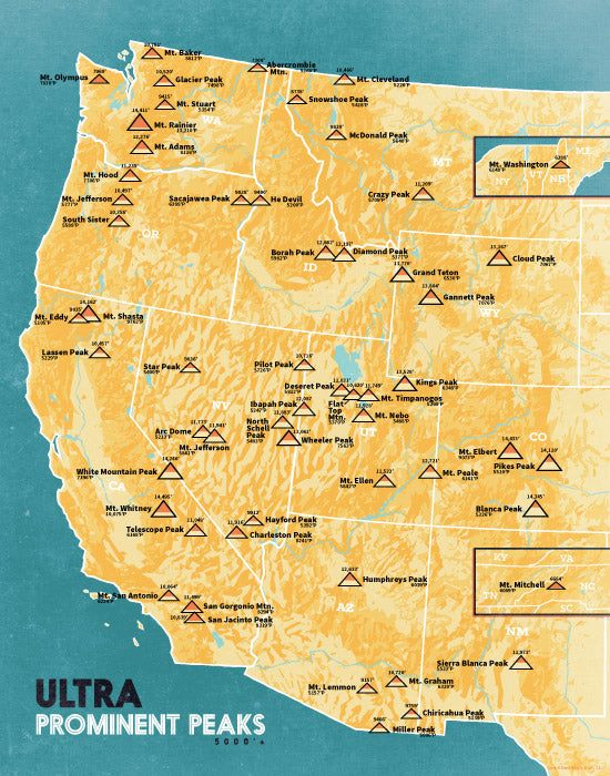 Peak Bagging Highpointing Tagged USA Maps Best Maps Ever - Map of the usa