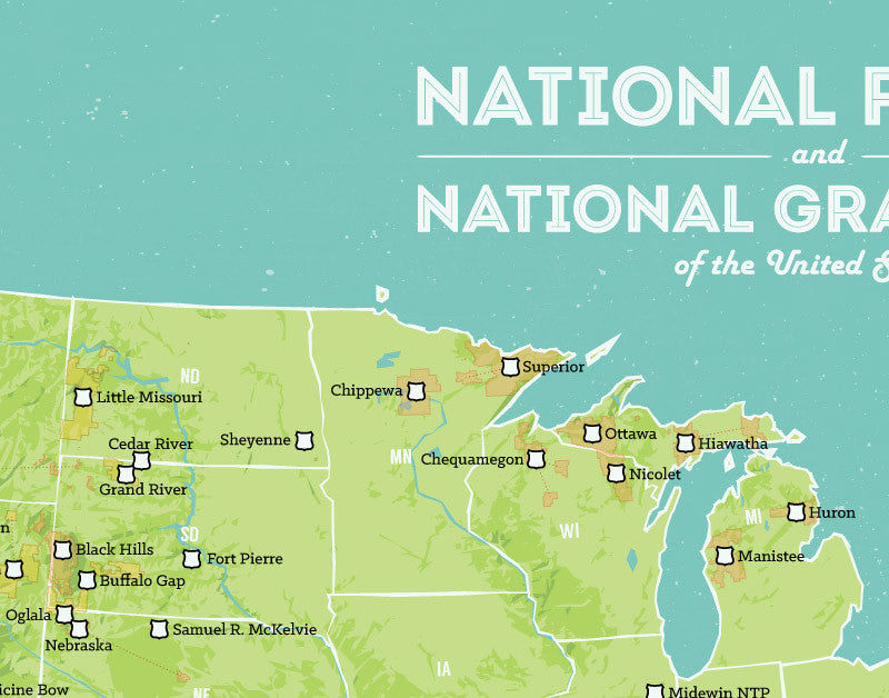 US National Forests Map X Print Best Maps Ever - Us national forests on a map