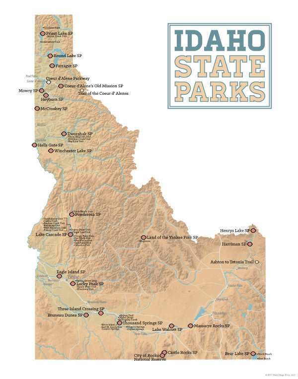 Idaho State Parks Map 11x14 Print on new york city map cities, kansas map cities, southern united states map cities, philadelphia map cities, utah map cities, wisconsin map cities, montana map cities, washington map cities, ada county map cities, eastern pa map cities, orlando map cities, san diego map cities, oregon map cities, lake michigan map cities, spokane map cities, north dakota map cities, singapore map cities, mountain west map cities, wyoming map cities, long island map cities,