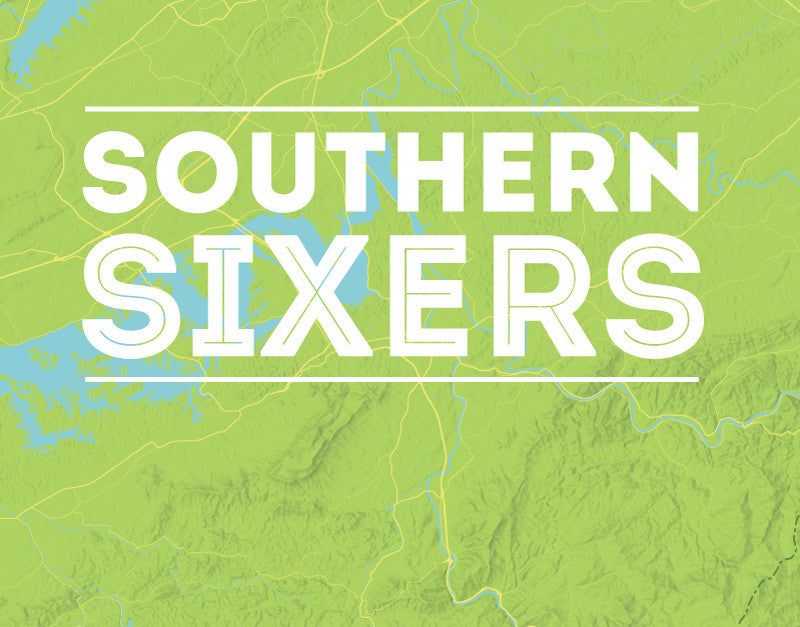 North Carolina 'Southern Sixers' / 'South Beyond 6000' Map Print - bright green