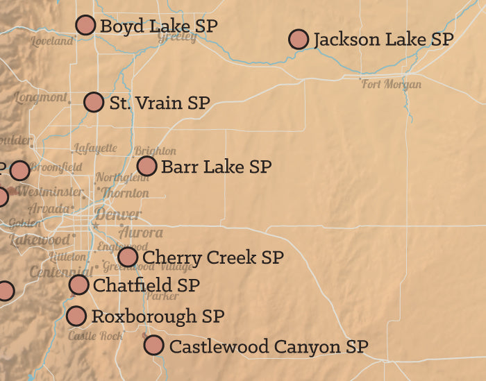 Colorado State Parks Map 11x14 Print on wilmot map, lafayette map, taizhou city map, e-470 map, otis map, retreat map, lochbuie map, saddle mountain map, commerce city co map, downcity providence map, riverside township map, new ipswich map, cherry hills village map, ophir map, glencoe map, sloan's lake map, northglenn colorado map, patterson map, arvada map, elizabeth map,