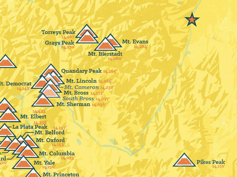 Colorado Ers Map X Poster Best Maps Ever - 14ers map us