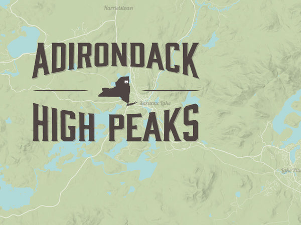 Image Result For Adirondack High Peaks Map Poster