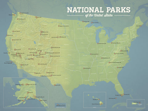 United States National Parks List - Best Maps Ever