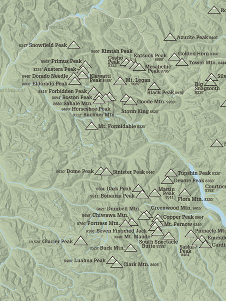 Washington Bulger List map poster - sage