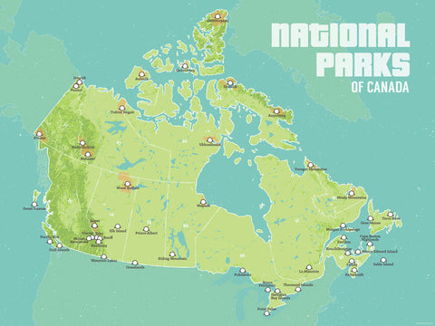 Canada National Parks List   Best Maps Ever