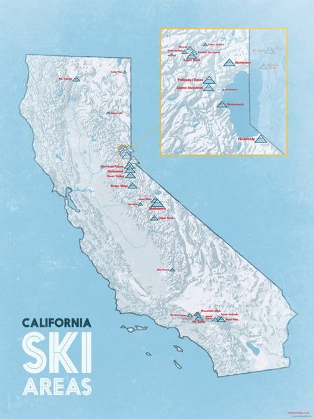 California Ski Resorts Map California Ski Areas & Resorts List   Best Maps Ever