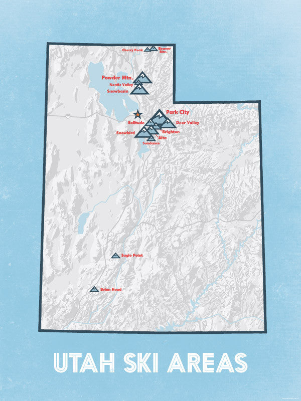 Ski Areas In Wyoming Map.Ski Resort Poster Maps Best Maps Ever