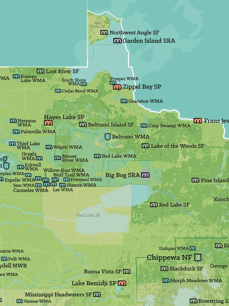 Lake Vermillion Minnesota Map.Minnesota State Parks Federal Lands Map 18x24 Poster Best Maps Ever