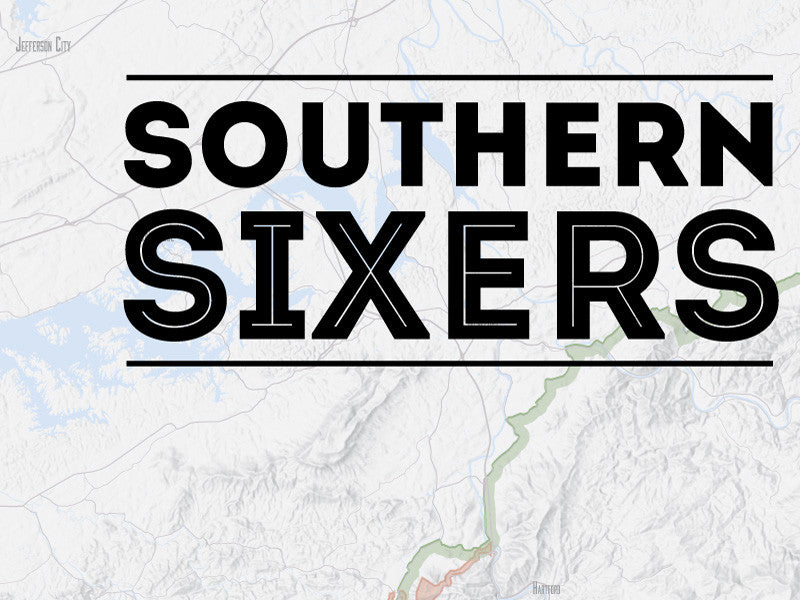 North Carolina 'Southern Sixers' / 'South Beyond 6000' Map Poster - gray